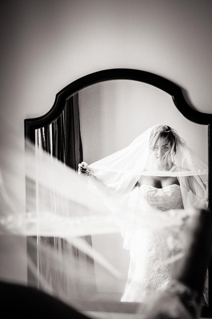 black and white havana bride portrait
