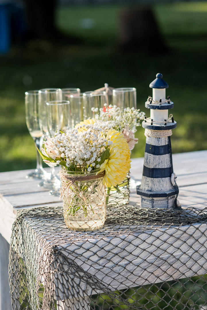 havana nautical wedding centerpieces