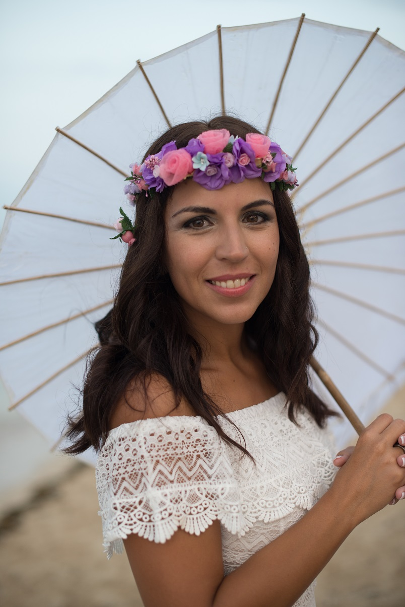 havana cuba beach wedding bride floral